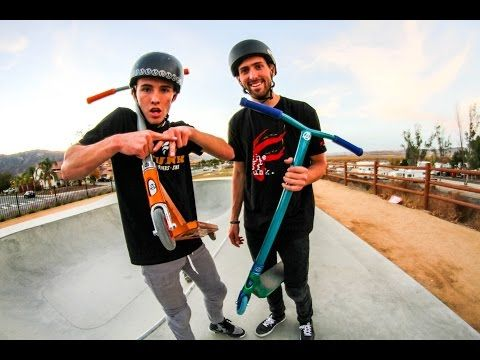 Corey & Capron build they're custom Apex scooters for you. Enjoy the clips