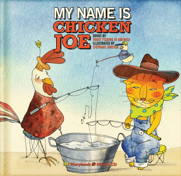 Book-CD, 'My Name is Chicken Joe' is the first installment in the Chicken Joe series. All songs are written and performed by TFIA. Illustrations are by Stéphane Jorisch.