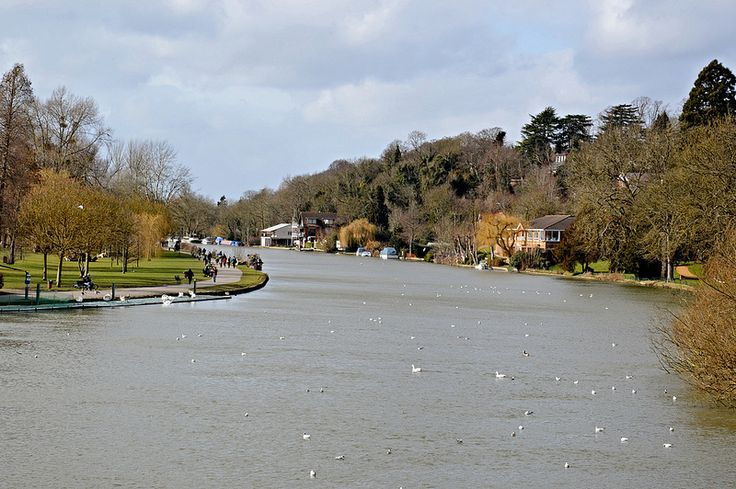 River Thames Caversham Reading Berkshire UK
