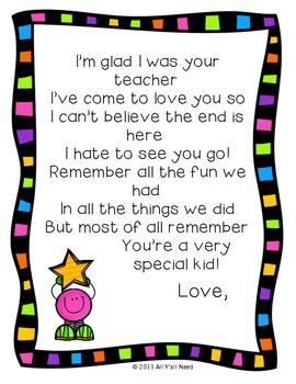 253 best end of the year images on pinterest teacher appreciation end of year for letter to students from teacher freebie end of summer poems spiritdancerdesigns Images