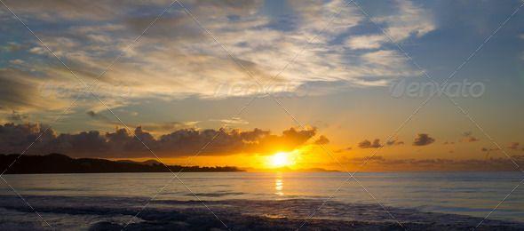 Sunrise Carribean Panorama, Panoramic photo of sunrise on the Caribbean island. #madinina #caribbean #caraibes #sunrise