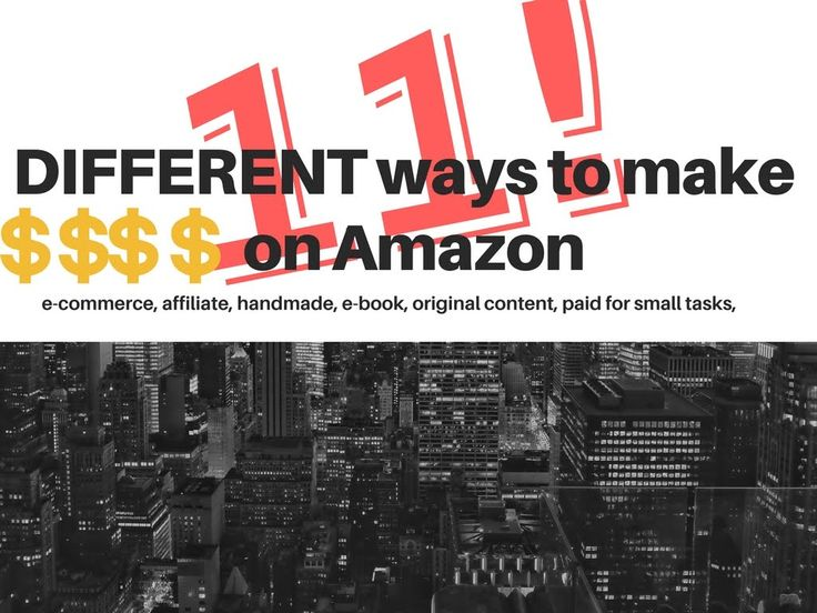 11 DIFFERENT Ways To Make Money With AMAZON | Work From Home - VISIT to view the video http://www.makeextramoneyonline.org/11-different-ways-to-make-money-with-amazon-work-from-home/