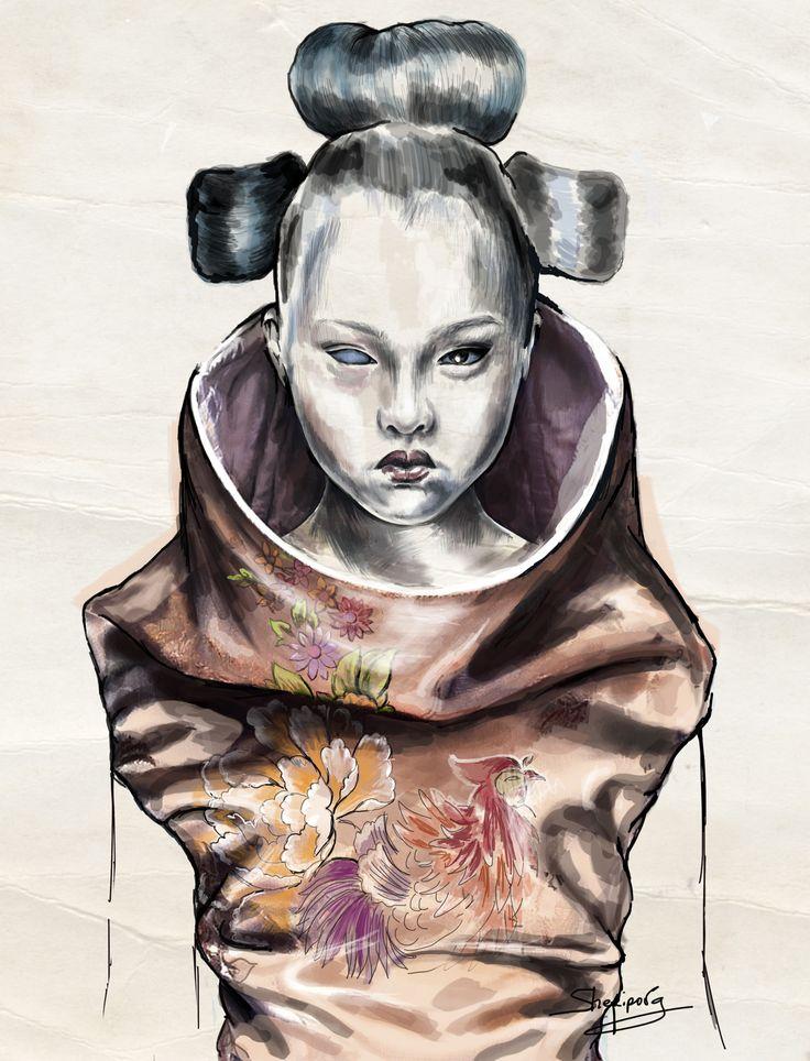 #fashion illustrations #fashion #moda #elina #sheripova #art #illustrations #alexander mcqueen