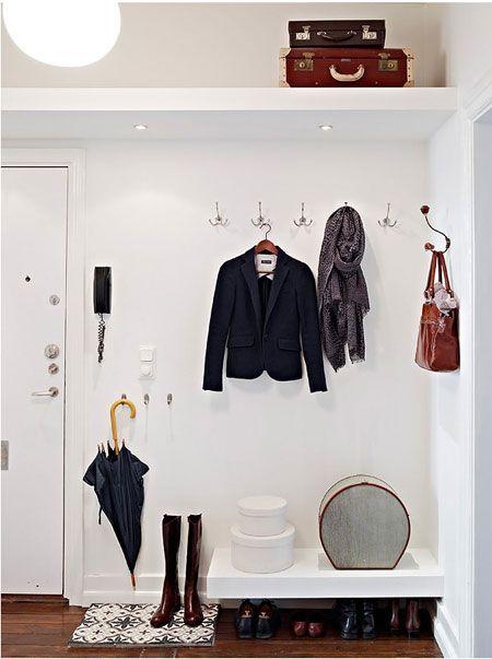 "my new foyer open concept ""closet"""