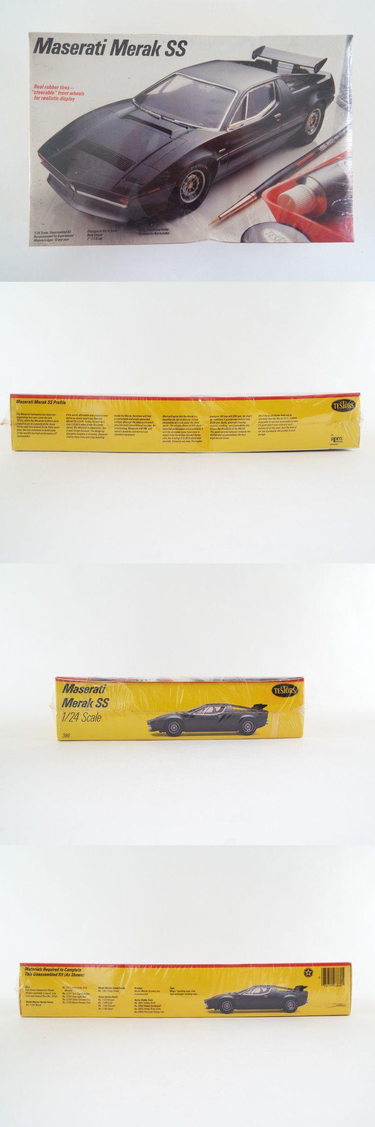 1 24 Scale 145974: Maserati Merak Ss 1:24 Testors Model Kit New And Sealed -> BUY IT NOW ONLY: $74.99 on eBay!