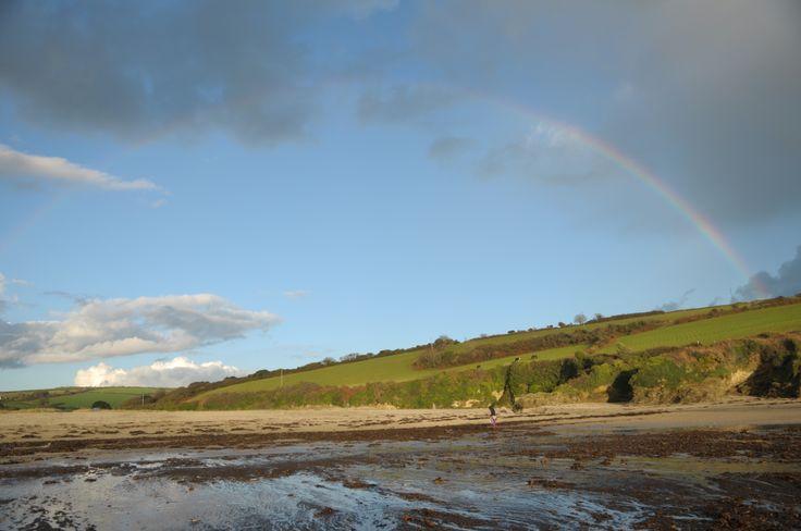 Rainbow over the Cornish coast