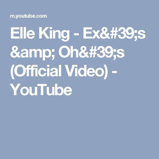 Elle King - Ex's & Oh's (Official Video) - YouTube