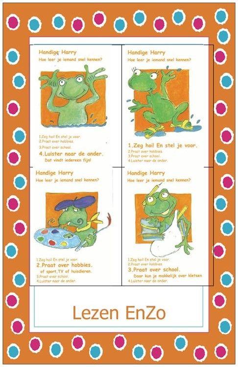Coole kikker > kwartet uitgewerkt voor Lezen EnZo Handige Harry