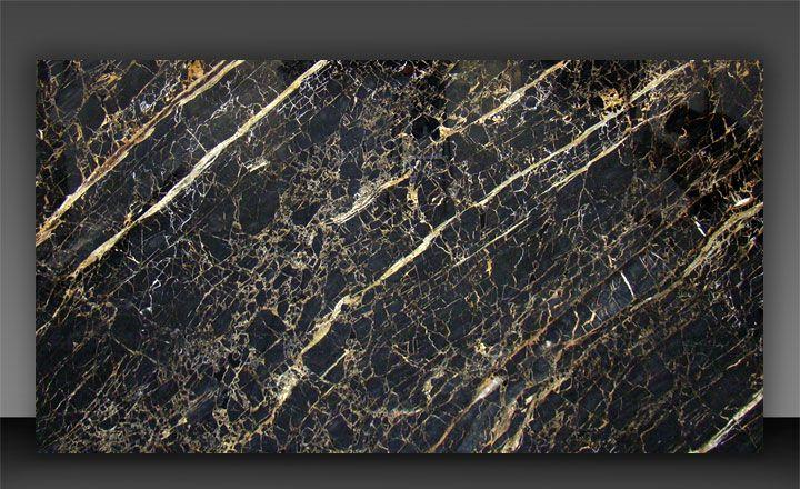 MARMO PORTORO - Il marmo Portoro Gold è un materiale proveniente dal Mar dei Caraibi dal fondo nero intenso. Notevoli sono le venature dorate e bianche che si intrecciano e che danno vita a notevoli disegni naturali.