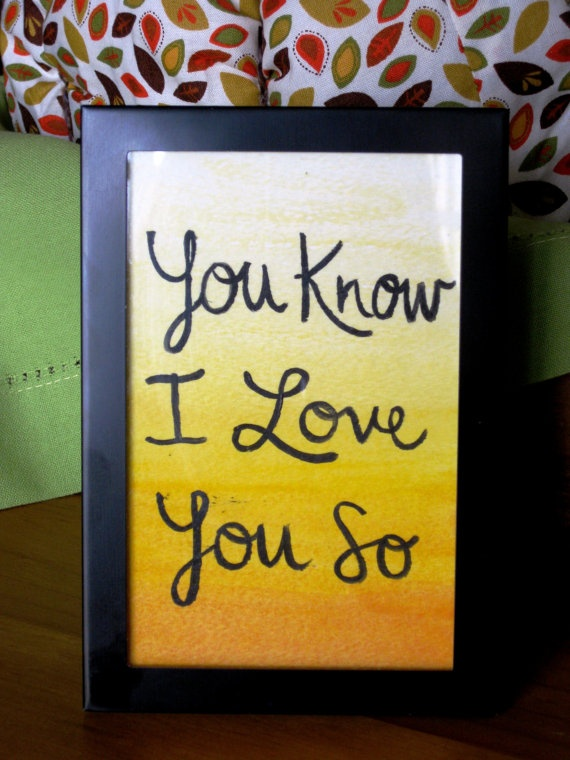 "Yellow Coldplay lyrics Watercolor painting- 4x6"". $15.00, via Etsy."