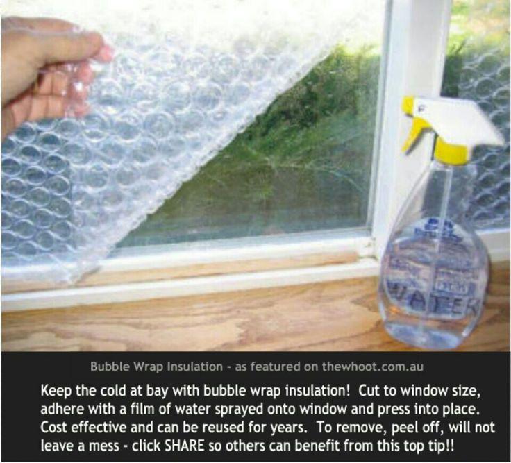 Bubble wrap window insulation entrance shoe rack