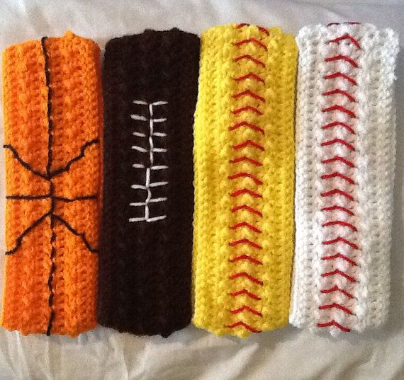Free Crochet Pattern For Softball Headband : Crochet Sports Headband by LilacLobster on Etsy, USD10.00 ...