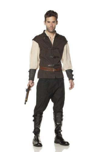 Mens Renaissance Costume Witch Hunter Hansel Halloween Adult Deluxe L Flawed | eBay