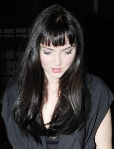 lily cole brunette- bangs-2011