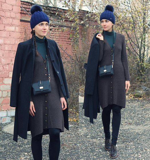 Get this look: http://lb.nu/look/7882648  More looks by Kiamyse L: http://lb.nu/kiamysel  #casual #minimal #street #mididress #winterdress #pullandbear #coat #trends #outfit