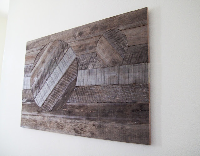Diy Reclaimed Wood Wall Art with a Faux Inlay design  - Tutorial (cool idea & so easy!)
