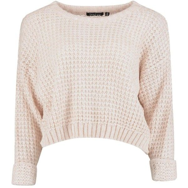 Amber Crop Jumper ❤ liked on Polyvore featuring tops, sweaters, shirts, blusas, pink shirt, shirts & tops, pink top, crop top and cropped jumper