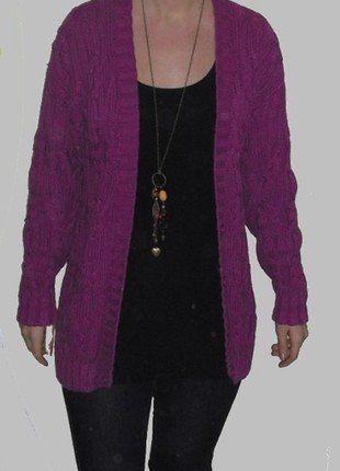 Kupuj mé předměty na #vinted http://www.vinted.cz/damske-obleceni/cardigany/13919209-dlouhy-svetr-4042-zahreje-fialovy-cardigan-prdlouzeny