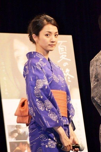 Japanese actress Hikari Mitsushima in Yukata 満島ひかり