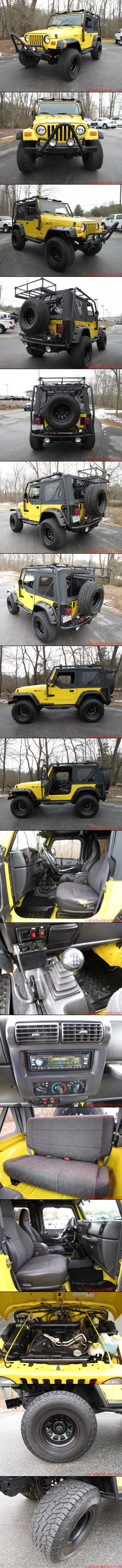 2001 Jeep Wrangler 4WD 2DR Sport OHV TJ - AM/FM Stereo, MP3 Player, Midland CB Radio, Brush Guard, Pacer Alloy Wheels, Mud Guards, Rollcage, Cargo Cage, 4.0L I6 SFI