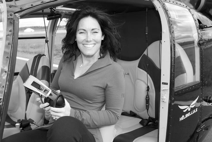 Valerie Delorme, FIG Clothing Ambassador - helicopter pilot, businesswoman, mother of 4