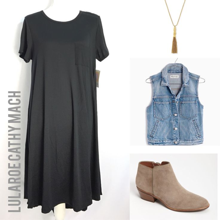 The Carly is a staple for everyone's closet.  Pair it with a denim vest, a pendant necklace, and a pair of short boots for quick and flirty outfit.  https://facebook.com/groups/ShopLuLaRoeCathyMach/