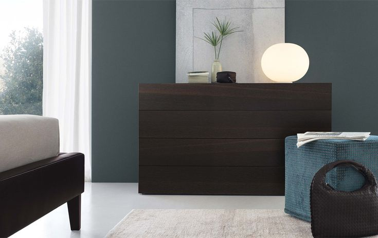 Nap is a contemporary sleek chest of drawers that is available in  beautiful finishes to complement your interior design.