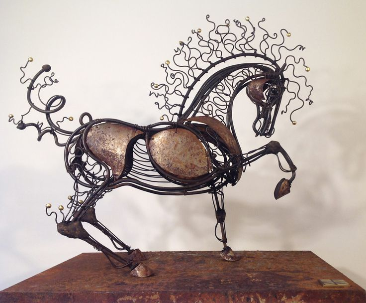 New 'Fairytale Horse' in iron. Exhibited in France throughout 2016.