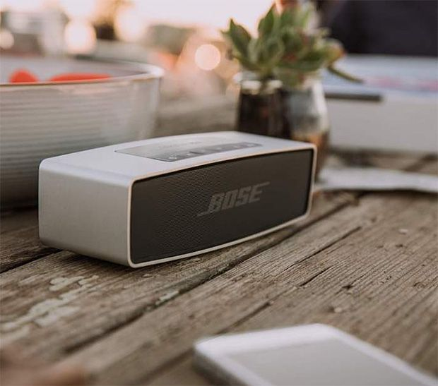Bose SoundLink Mini Bluetooth Speaker.  Bose SoundLink Mini Bluetooth Speaker There are plenty of cute, colorful, & compact wireless speakers out there but if you want one that's going to deliver superior sound, the new Bose SoundLink Mini is probably the one. Why? Proven Bose sound & a 7-hour battery. $200