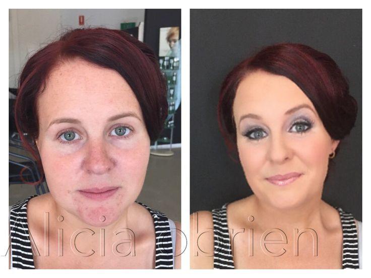 Befour & after wedding makeup