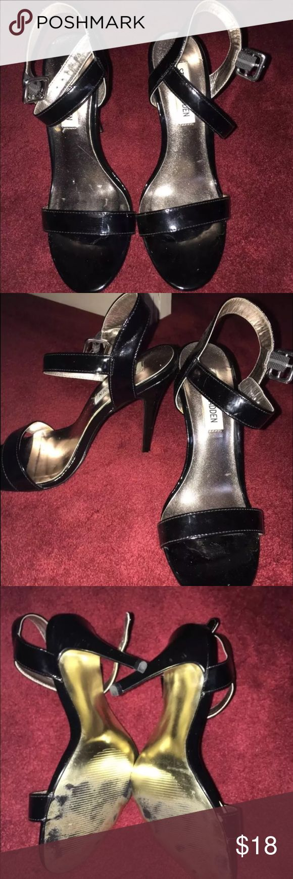Steve Madden Patent leather heels /pumps beautiful Beautiful nude heels. Perfect for summer! Size 7 . Have been worn one time. These beauties have been seen on kylie jenner and rihanna! Paid $99.00 . The heel height is 4.5 Steve Madden Shoes Heels