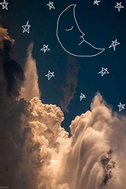 gif uploads moon stars clouds scribble chrisers gif