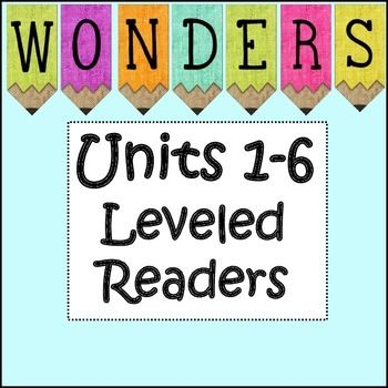 McGraw-Hill Wonders Third Grade Leveled Readers Units 1-6 BundleThird Grade :Leveled Reader Activities for small groups. There are 15 activities for each unit and there are 6 units.Each week of each unit has an activity for each of the leveled readers.