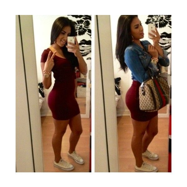 Pretty Girl SwagBodycon dressed down with white converseLOVE