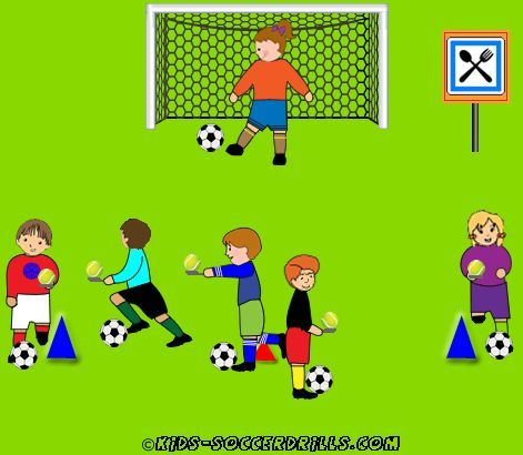Creativ Lesson - Egg race - Kids Soccer - Soccer drills for kids from U5 to U10 - Soccer coaching with fantasy