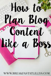 planning blog content