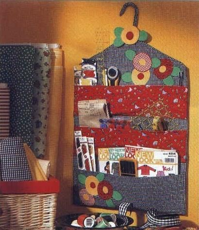 Hanging organiser - could be done in your own fabric choice