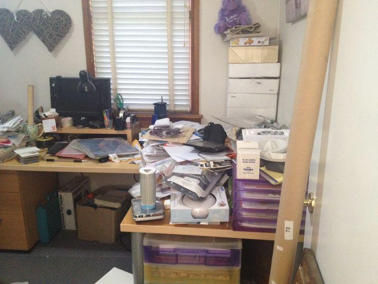 Sharon's messy study