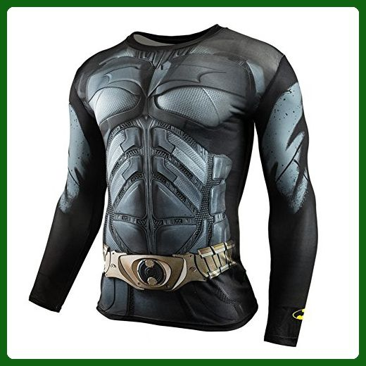 HOCOOL Men's Long Sleeve Compression Sports Shirt,Bat Men Running Gym Tee 2XL - Sports shirts (*Amazon Partner-Link)