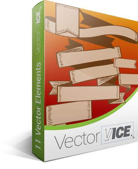 Ribbons Vector Pack #ribbons #vectorpack #handdrawnvector http://www.vectorvice.com/ribbons-vector-pack