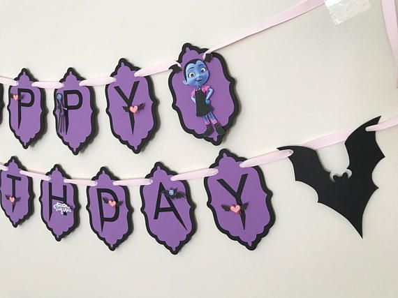 Vampirina Birthday Banner Party Hanging Decoration