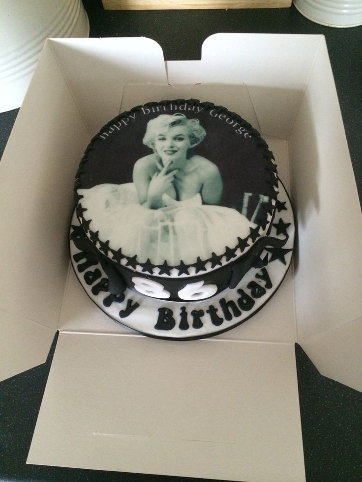 Marilyn Monroe Cake Bday Decor Pinterest Cakes And