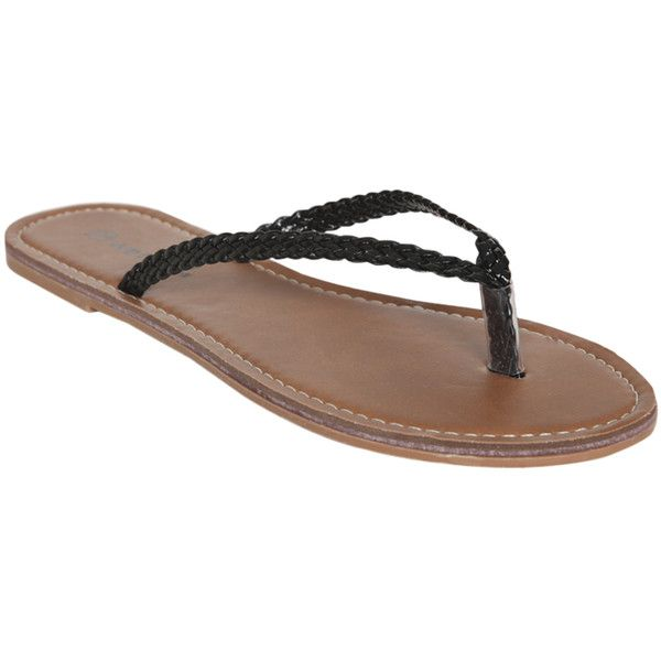Braided Strap Flip Flop 525 Liked On Polyvore -7385
