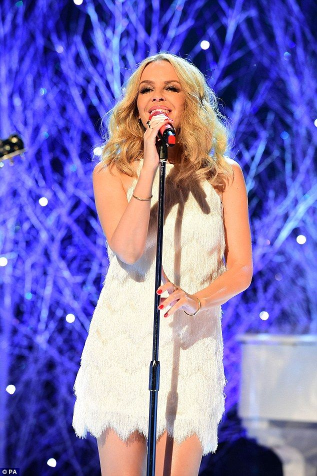 White Christmas: Kylie Minogue performed a track from her Christmas Album...