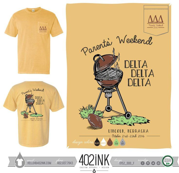 #402ink #402style 402ink, Custom Apparel, Greek T-shirts, Sorority T-shirts, Fraternity T-shirts, Greek Tanks, Custom Greek Apparel, Screen printed apparel, embroidered apparel, Sorority, TRIDELT, Delta Delta Delta, Parent's Day, Family Weekend