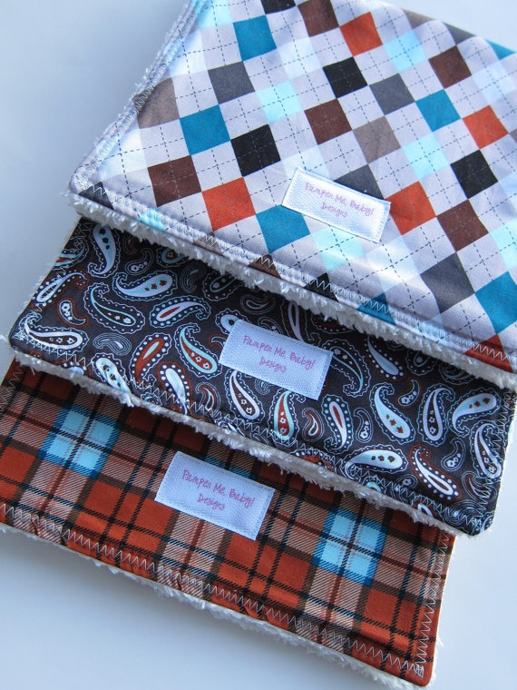 More boy burp cloths.