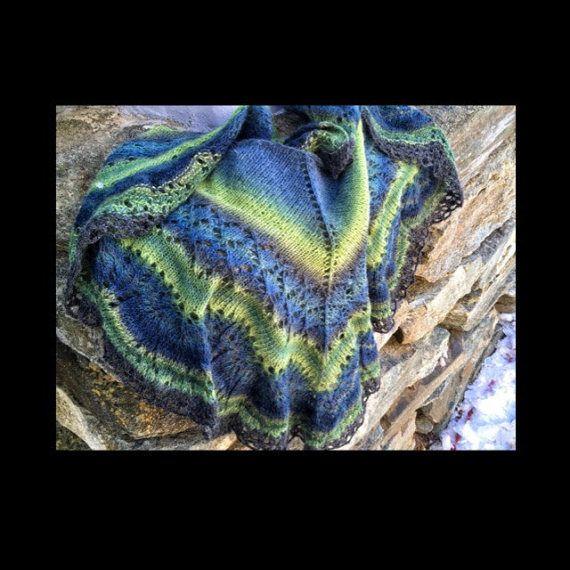 Hand made shawl 100% Norwegian wool hight quality от NorwayWool