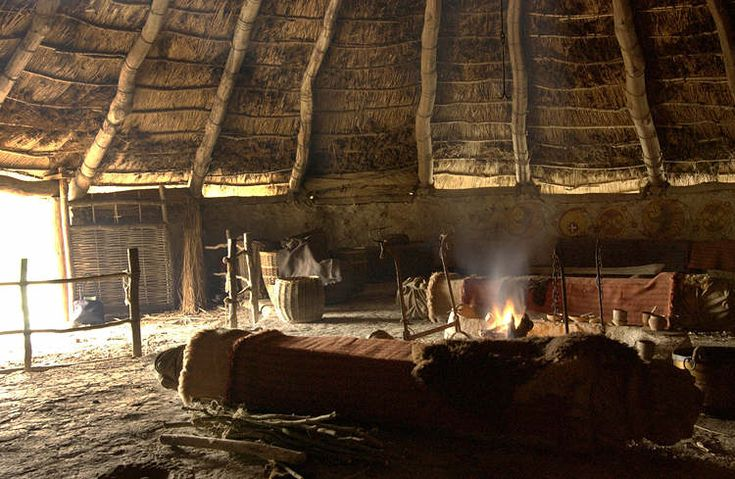 Interior of a reconstructed roundhouse at Castell Henllys Iron Age hillfort. #Woad novel inspiration.