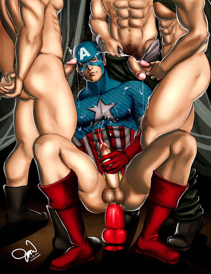 Captain america cartoon porn