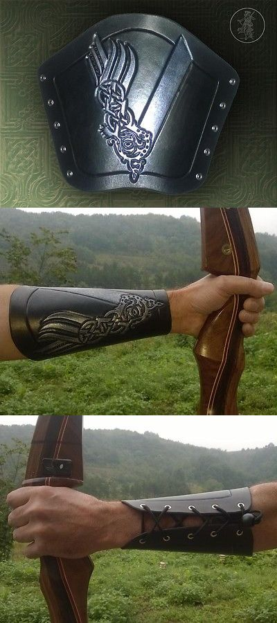 Arm Guards and Chest Guards 181298: Hand Carved Leather Archery Bracer, Armguard, Tv Vikings Design Larp -> BUY IT NOW ONLY: $29.5 on eBay!